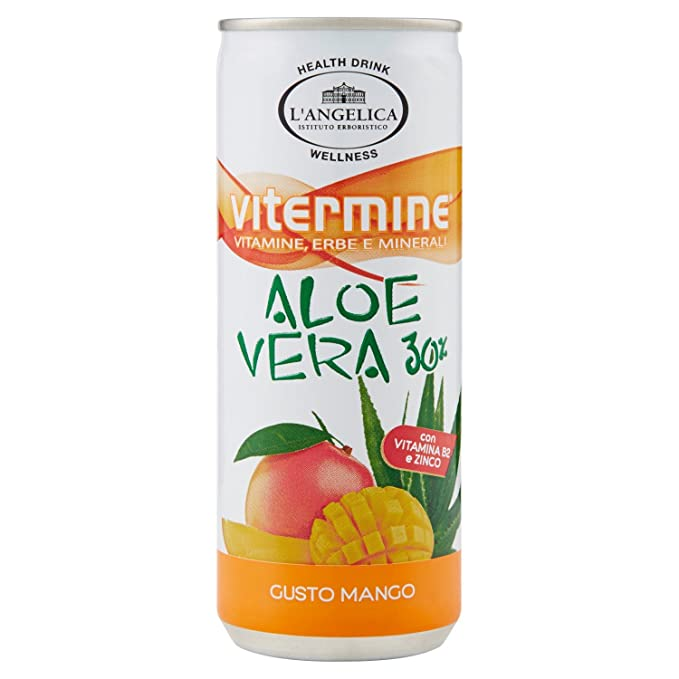 6 opinioni per L'Angelica Aloe Mango in Lattina- 3 lattine da 240 ml [720 ml]