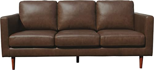Amazon Brand Rivet Revolve Modern Leather Sofa Couch