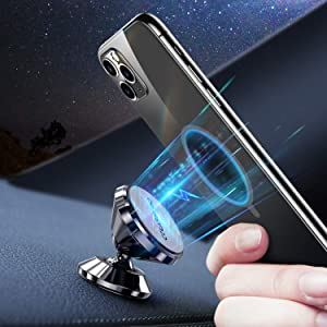 CASEKOO Magnetic Car Phone Holder, Universal 360° Rotation Strong Magnet Phone Car Holder Mount for Dashboard Fit for iPhone SE 11 Pro Max XS Max XR X 8 Plus Samsung Galaxy S20 Note10 S10 & All Phone