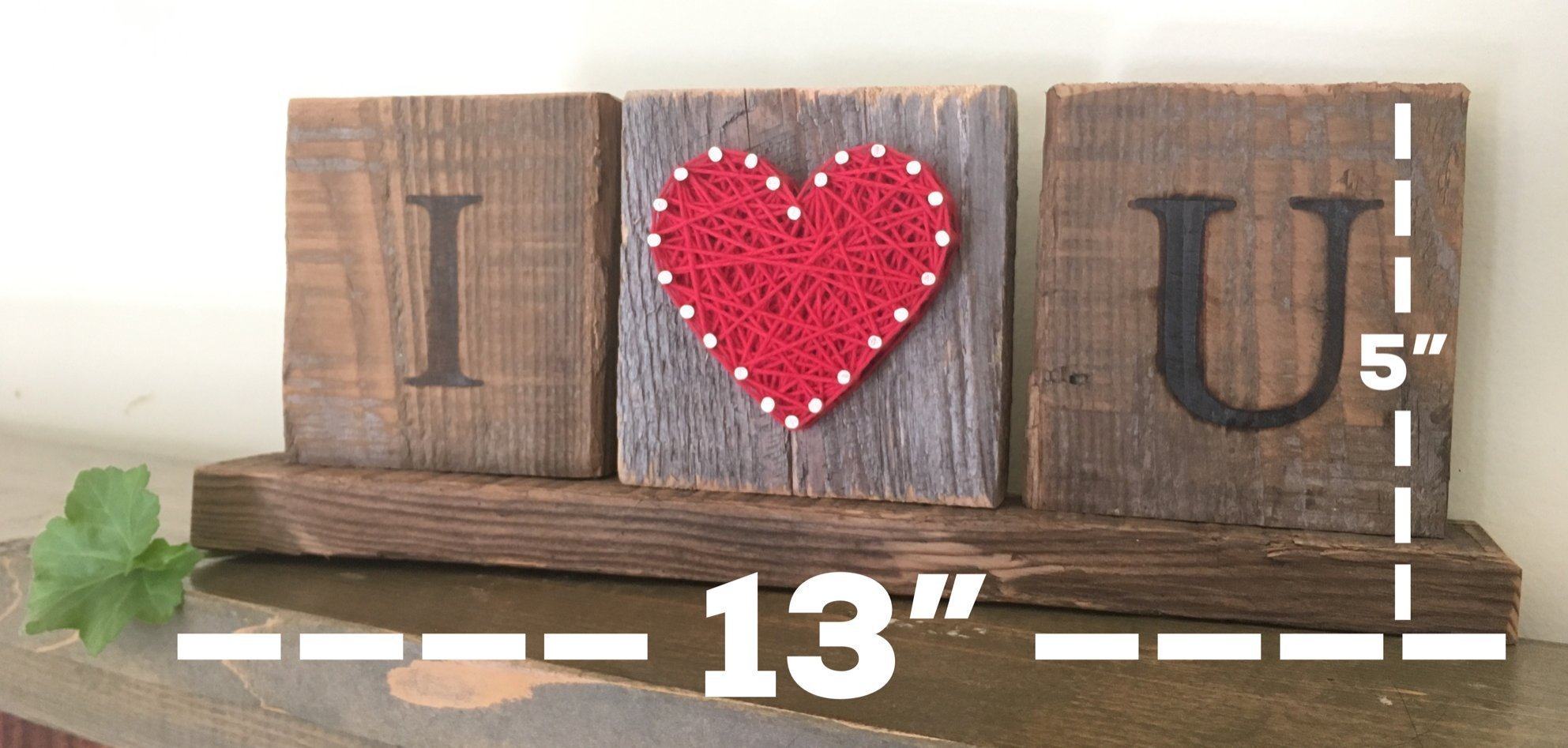 I Love you wooden desk gift. String art love sign. Great gift for Anniversary, birthday, graduation and just because gift by Nail it Art. by Nail it Art (Image #3)