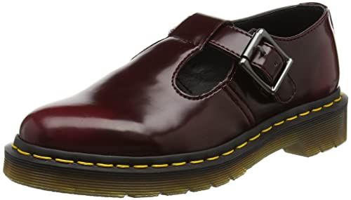 45547995bfc Dr. Martens Men s Vegan Polley Cherry Red Cambridge Brush Trainers ...