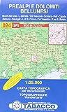 Prealpi e Dolomiti bellunesi 1:25.000