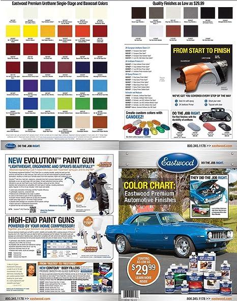 Amazon Eastwood Automotive Paint Color Chip Chart Automotive