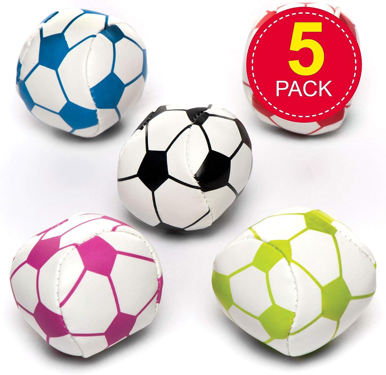 Baker Ross Minibalones de fútbol blandos para niños - Perfectos para bolsas sorpresa de fiestas infantiles (pack de 5): Amazon.es: Juguetes y juegos