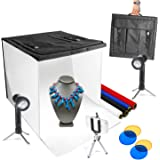 """LimoStudio 16"""" x 16"""" Table Top Photo Photography Studio LED Lighting, Light Tent Kit in a Box, Photo Background Shooting…"""