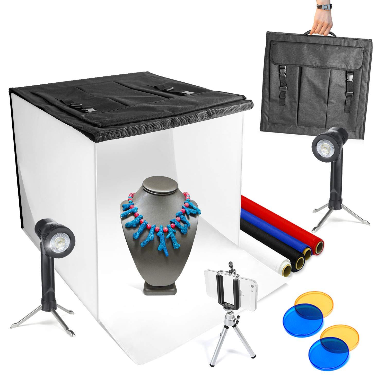 "LimoStudio 16"" x 16"" Table Top Photo Photography Studio LED Lighting"
