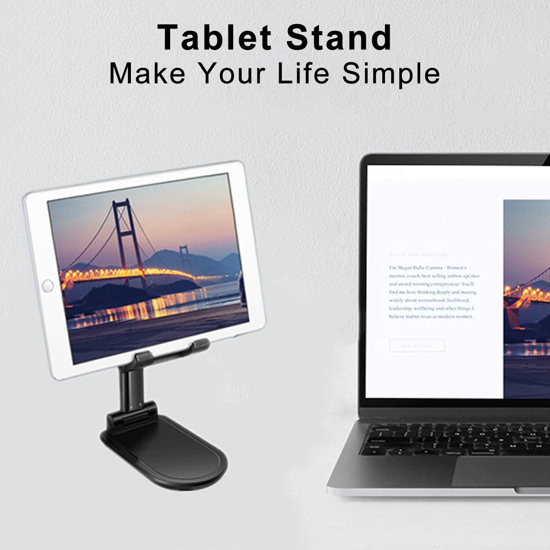Tel/éfono M/óvil Tableta Computadora Soporte Port/átil Universal Multi/ángulo Plegable y Ajustable para iPad Pro//Air//Mini//iPhone 11//Samsung S20//S10//Huawei P40 Pro//Galaxy Tab//Kindle Kdely Soporte M/óvil