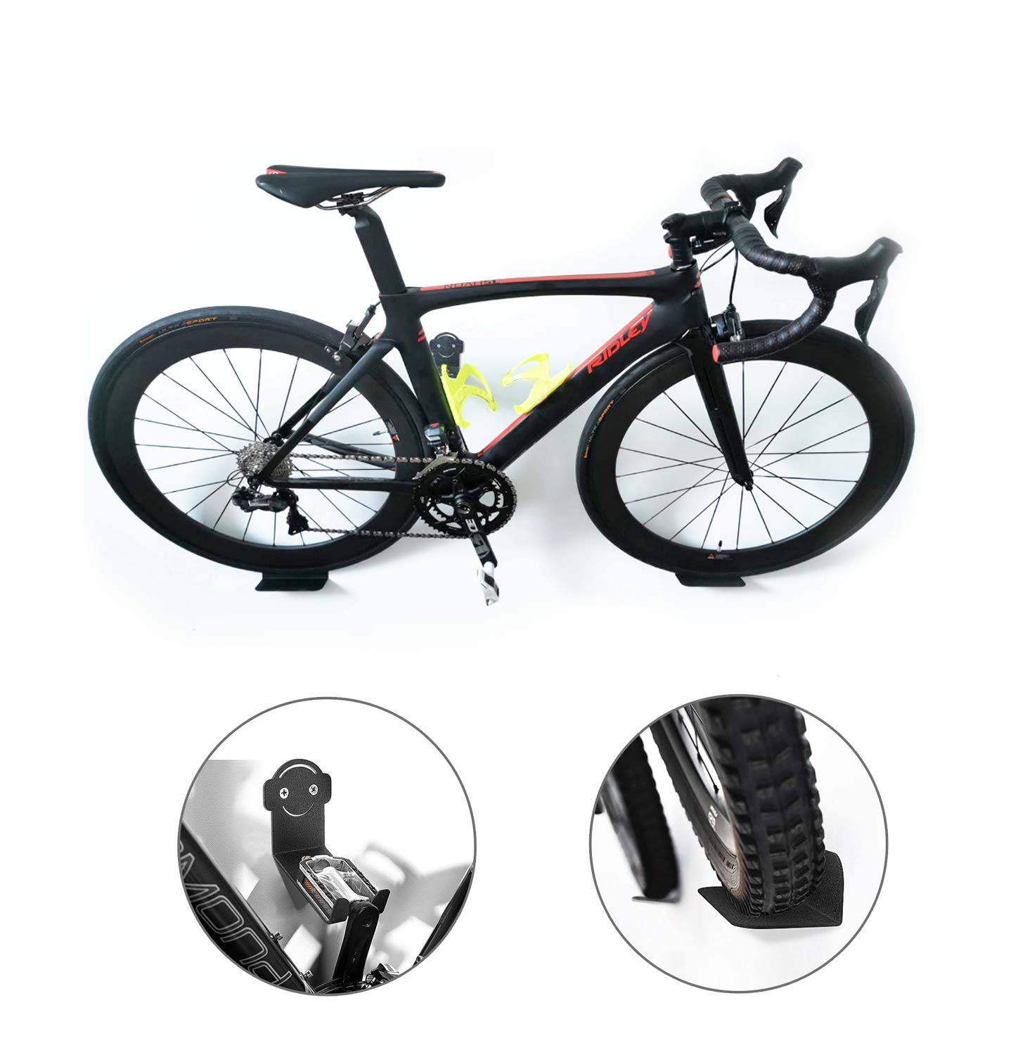 Bike Hook Wall Mount Hanger or Outdoor Hanging Your Road Heavy Duty Horizontal Indoor Storage Rack for 1 Bicycle Garage Mountain or Hybrid Bikes in Home Safe and Secure
