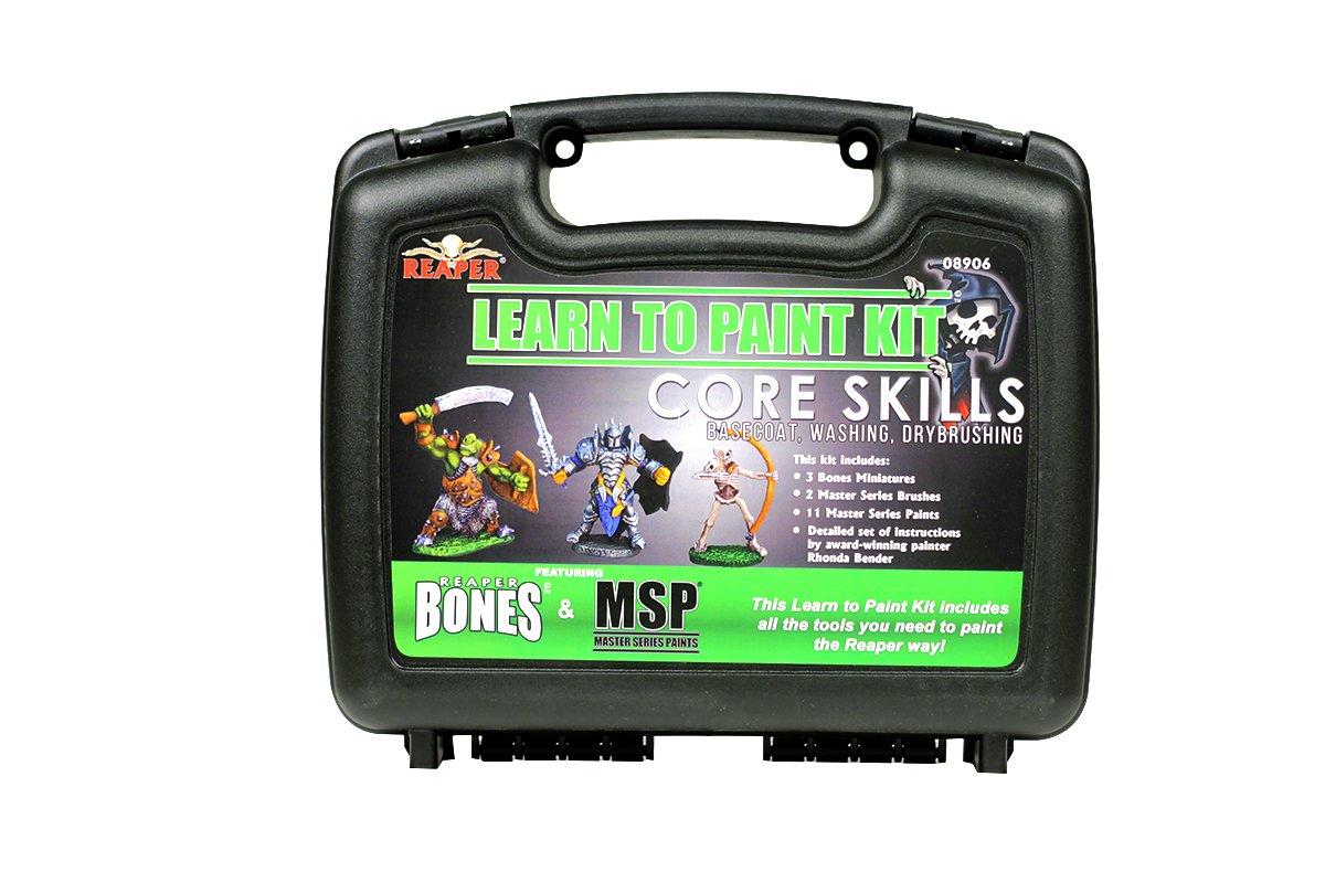 Painting miniatures color master primer - Amazon Com Reaper Miniatures 08906 Learn To Paint Bones Kit Toys Games