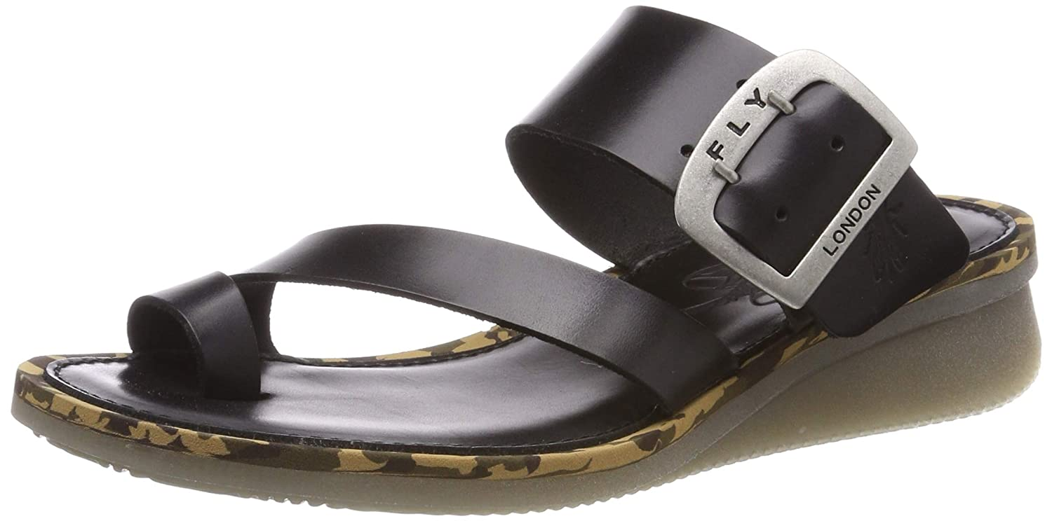 Schwarz(schwarz 000) Fly London Damen Cops397fly Sandalen