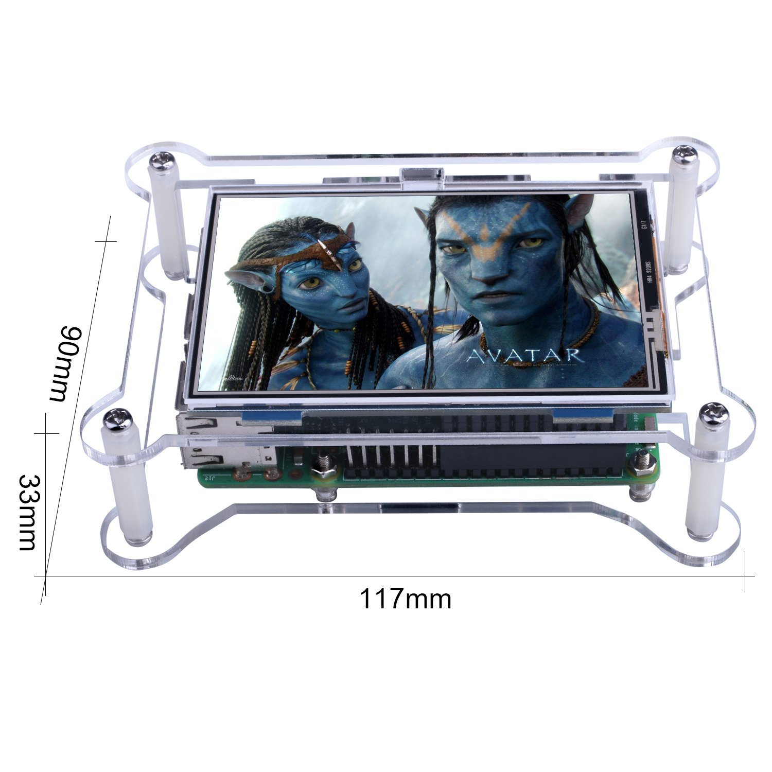 Kuman Raspberry Pi 3 Generation TFT Touch Screen 3.5 inch 480 320 TFT LCD Display Monitor Support All Raspberry PI Systems Video and Movie Play Arcade Game HDMI Audio Input SC6A