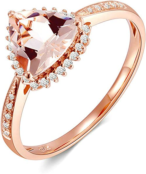 Bague Ring Femme Céramique Rose Diamant motif X Couple Mariage Modèle 74