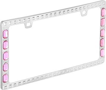 Screw Caps MONTEREY Black Metal License Plate Frame