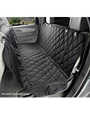 4Knines Rear Bench Seat Non-Slip Cover with Hammock, Lifetime Warranty (Regular, Black)