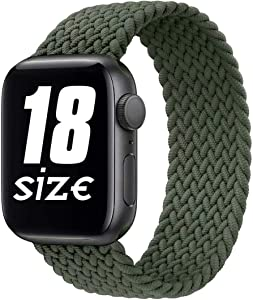 GBPOOT Sport Watch Bands Compatible With Braided Solo Loop Apple Watch Band 38mm 40mm 42mm 44mm,Soft Stretchy Braided Wristband for Iwatch Series 1/2/3/4/5/6/SE