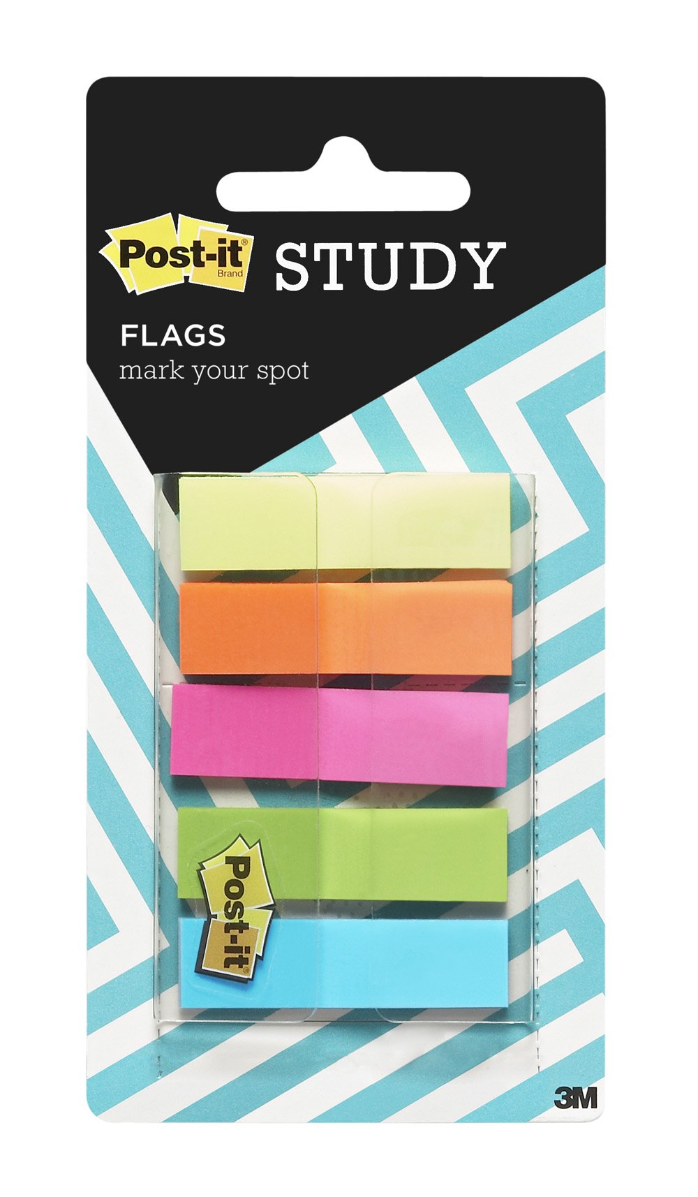 Post-it Flags, 5 Assorted Bright colors, Mark Your Spot and Highlight Critical Data,  .47 inch Wide, 100 flags, (ED-HF1)