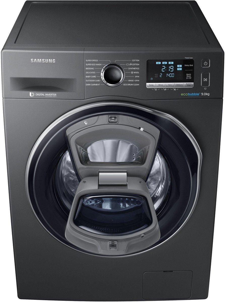 Samsung 9 kg Fully-Automatic Front Loading Washing Machine (WW90K6410QX,  Inox Grey)