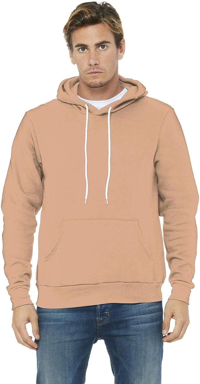 Bella + Canvas Unisex Poly-Cotton Fleece Pullover Hoodie Sweatshirt at  Men's Clothing store