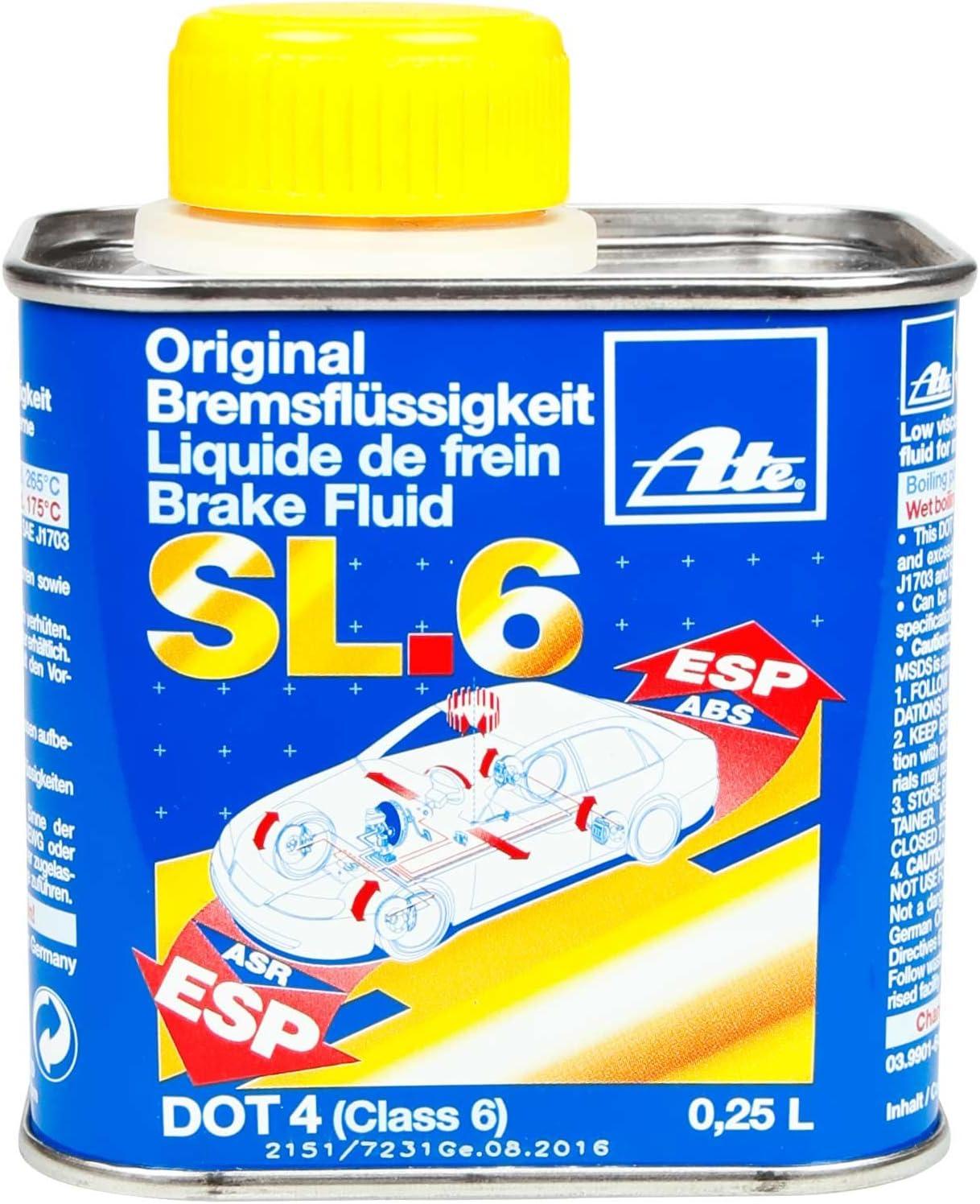Ate Brake Fluid Sl6 Dot4 250 Ml Auto
