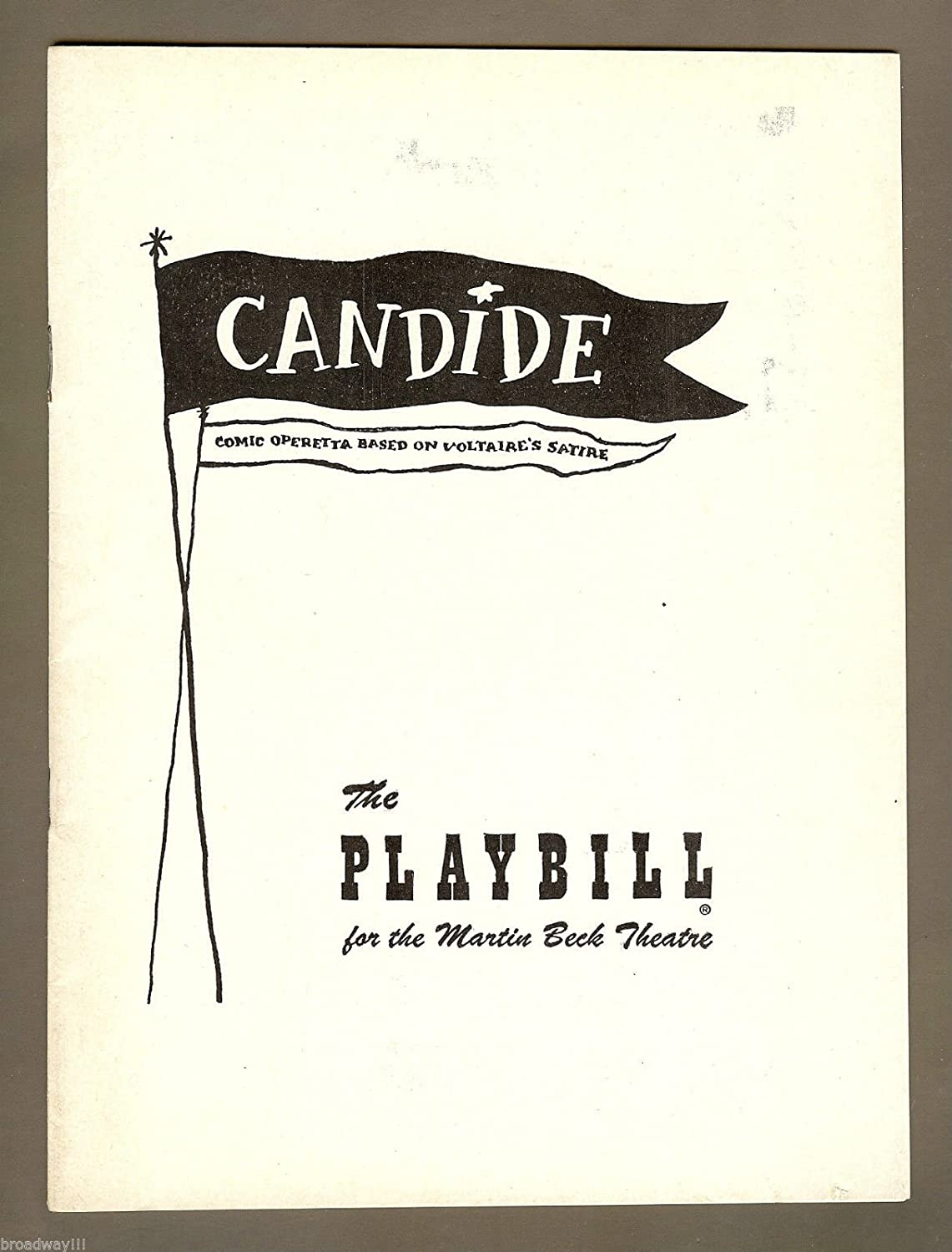 Barbara Cook 'CANDIDE' Leonard Bernstein / Opening Night 1956 Broadway Playbill