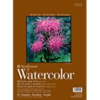 "Strathmore 400 Series Watercolor Block, Cold Press, 11""x15"" Bound (4 sides), 15 Sheets/Block"