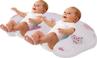 Love2Sleep TWIN FEEDING/ NURSING PILLOW CUSHION HOLLOWFIBRE FILLED FOR COMPLETE SUPPORT: HEARTS