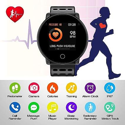 Amazon.com: SYNERKY Smart Watch, Bluetooth Smart Band ...