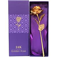 Valentine Gifts by YouBella Fashion Jewellery Gold Plated Rose Flower with Gift Box