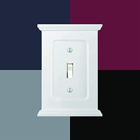 AMERELLE 178TTW Mantel Double Toggle Wood Wallplate in White