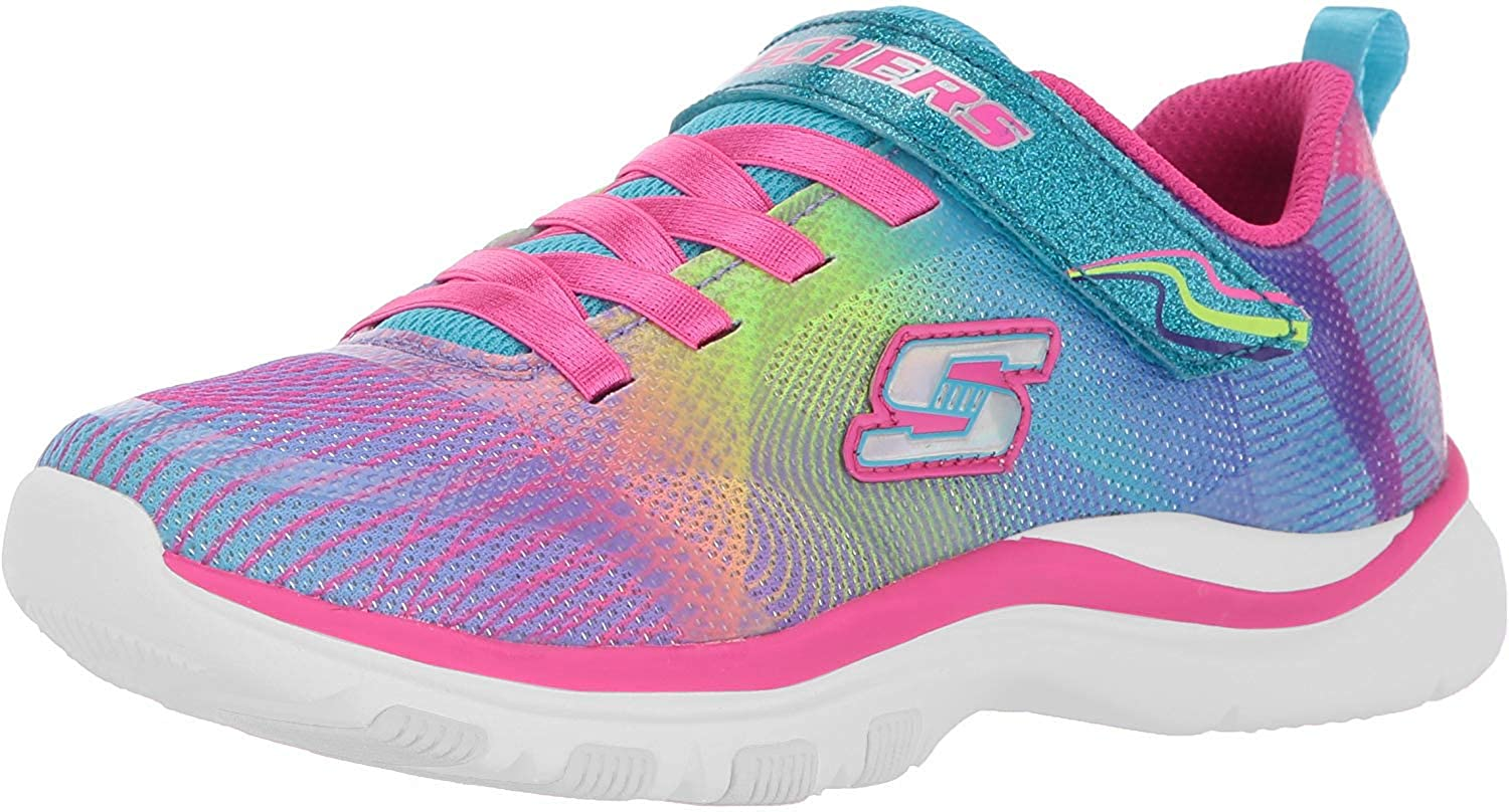 New! Girl/'s Toddlers Skechers 81488L Trainer Lite Dash N Dazzle Muilt color 58T
