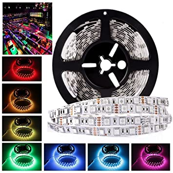 Amazon ledmo 12v flexible smd 5050 rgb led strip lights led ledmo 12v flexible smd 5050 rgb led strip lights led tape multi colors aloadofball Image collections
