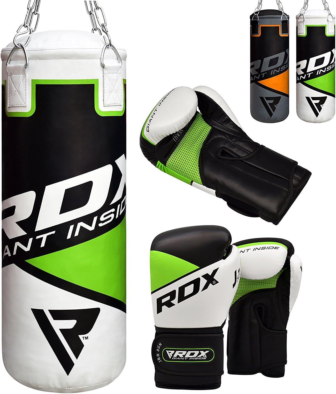 RDX Saco de Boxeo Niños Relleno MMA Muay Thai Kick Boxing Artes Marciales con Guantes Entrenamiento Junior Punching Bag