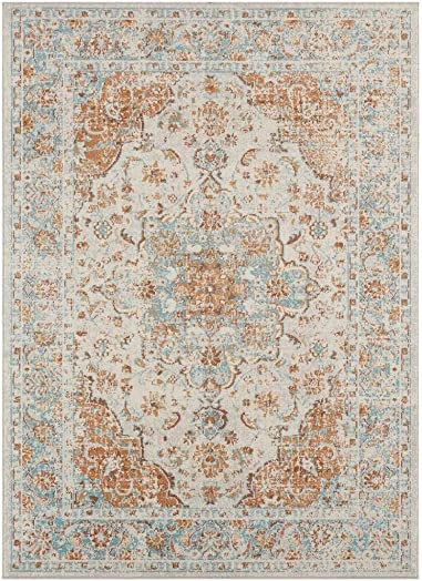 Luxe Weavers Kingsbury Collection Oriental 9×12 Ivory Traditional Area Rug