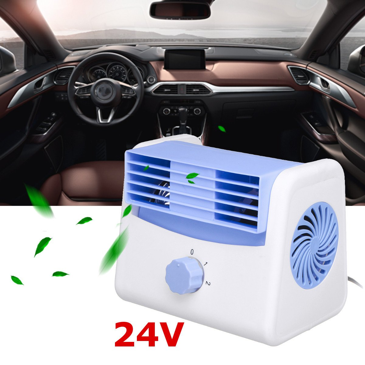 Portable Car Fan Quiet Speed Adjustable Mini Summer Styling Accessories (24V) Shenzhenshi tuobinuo keji youxian gongsi