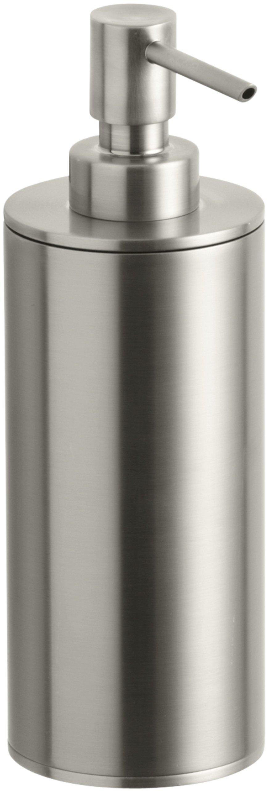 Kohler K-14379-BN Purist Countertop Soap Dispenser, Vibrant Brushed Nickel