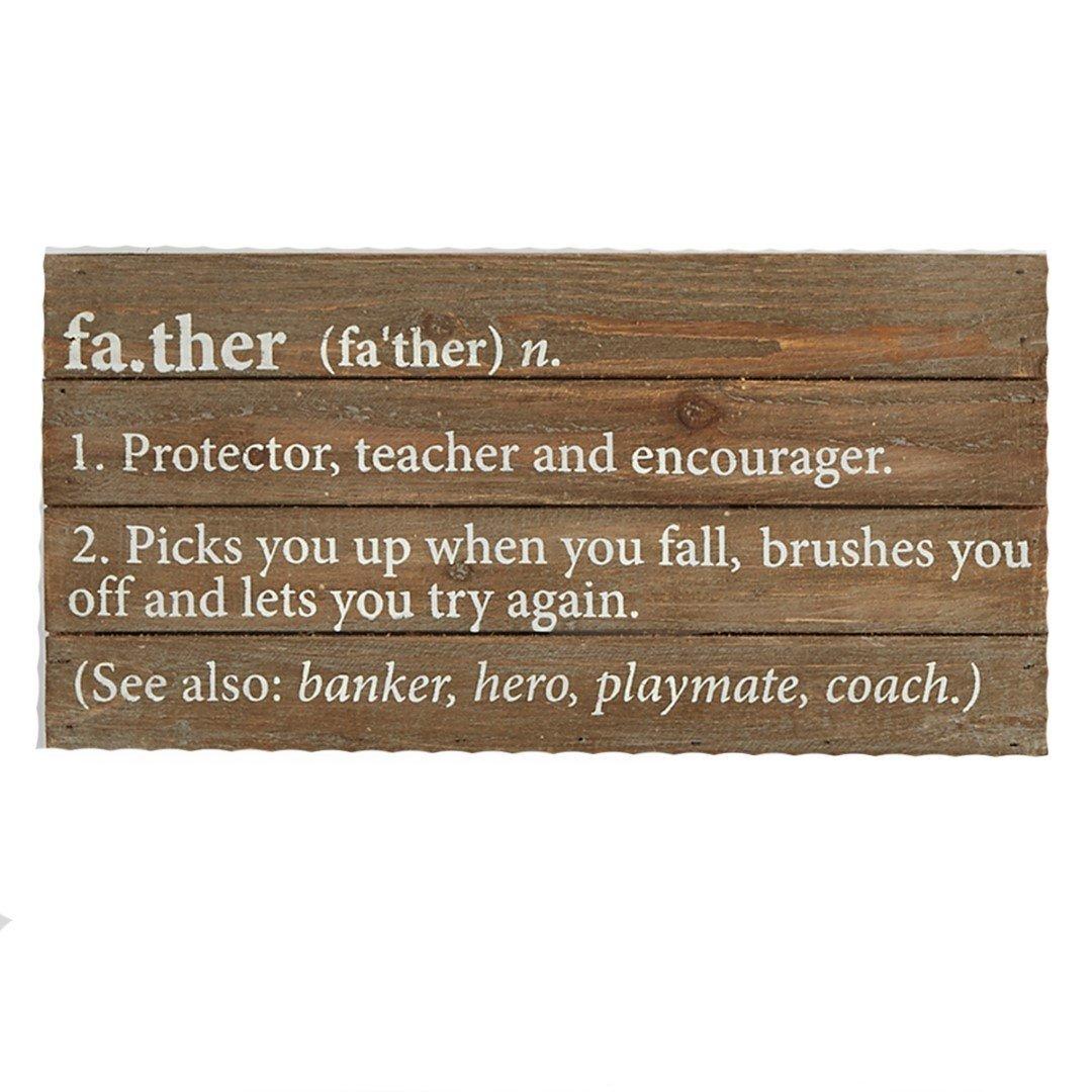Other home decor mud pie father definition plaque was - Plaque de finition ...