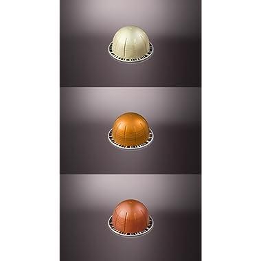 Nespresso Vertuoline Flavored Assortment. 1 sleeve of each: Vanizio, Caramelizio & Hazelino. Total of 30 capsules