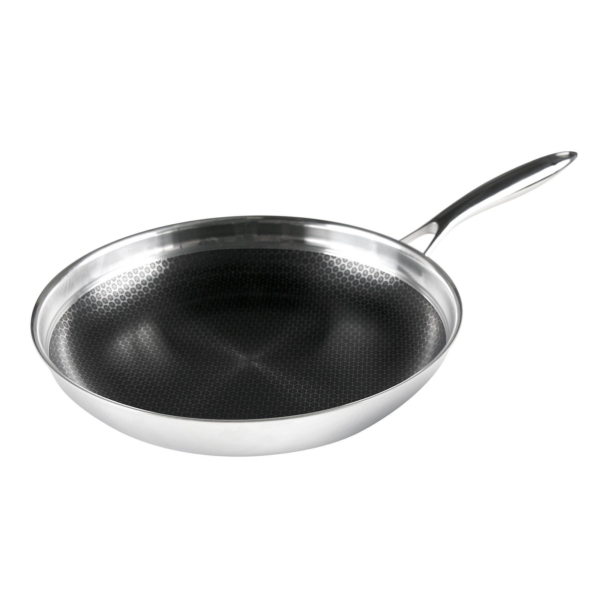 Frieling BC132 Black Cube Hybrid Nonstick Cookware Fry Pan, 12.5'', Stainless