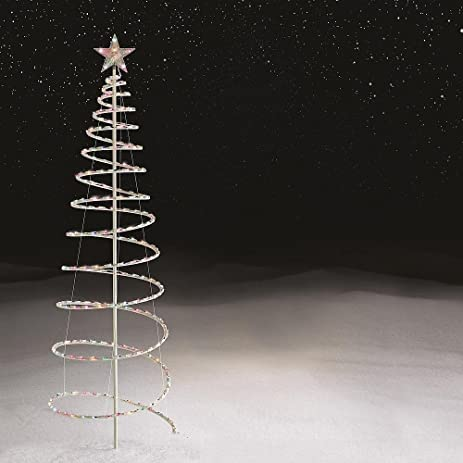 6 ft lighted spiral christmas tree