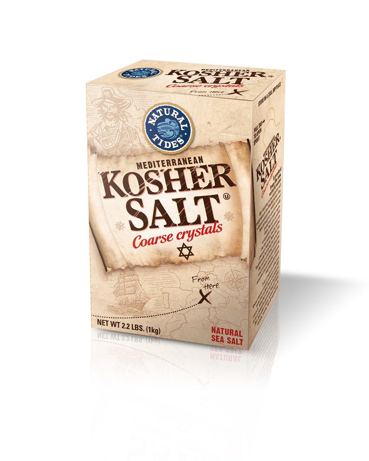 Natural Tides Mediterranean Kosher Salt, 2.2-Pounds (Pack of 6) by NATURAL TIDES (Image #1)