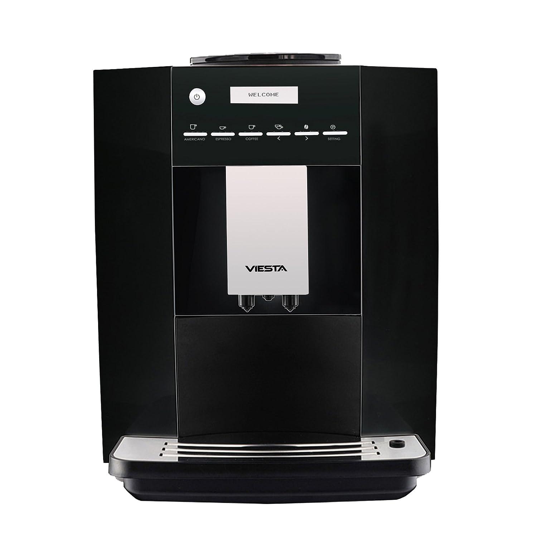 VIESTA Máquina de café CB300S- Alta Potencia (1,8 litros, 19 Bar, 1400 vatios, Pantalla-menú LCD) - Máquina de café Modelo 2017 - Negro