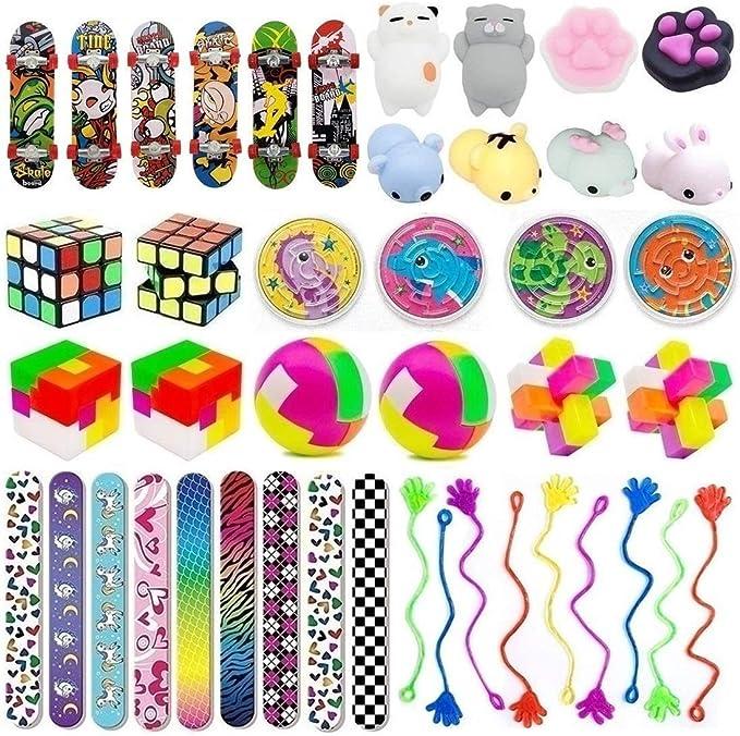 Unicorn and Multi Bubble Tubes 11cm Kids Party Bag Fillers Favours Toys