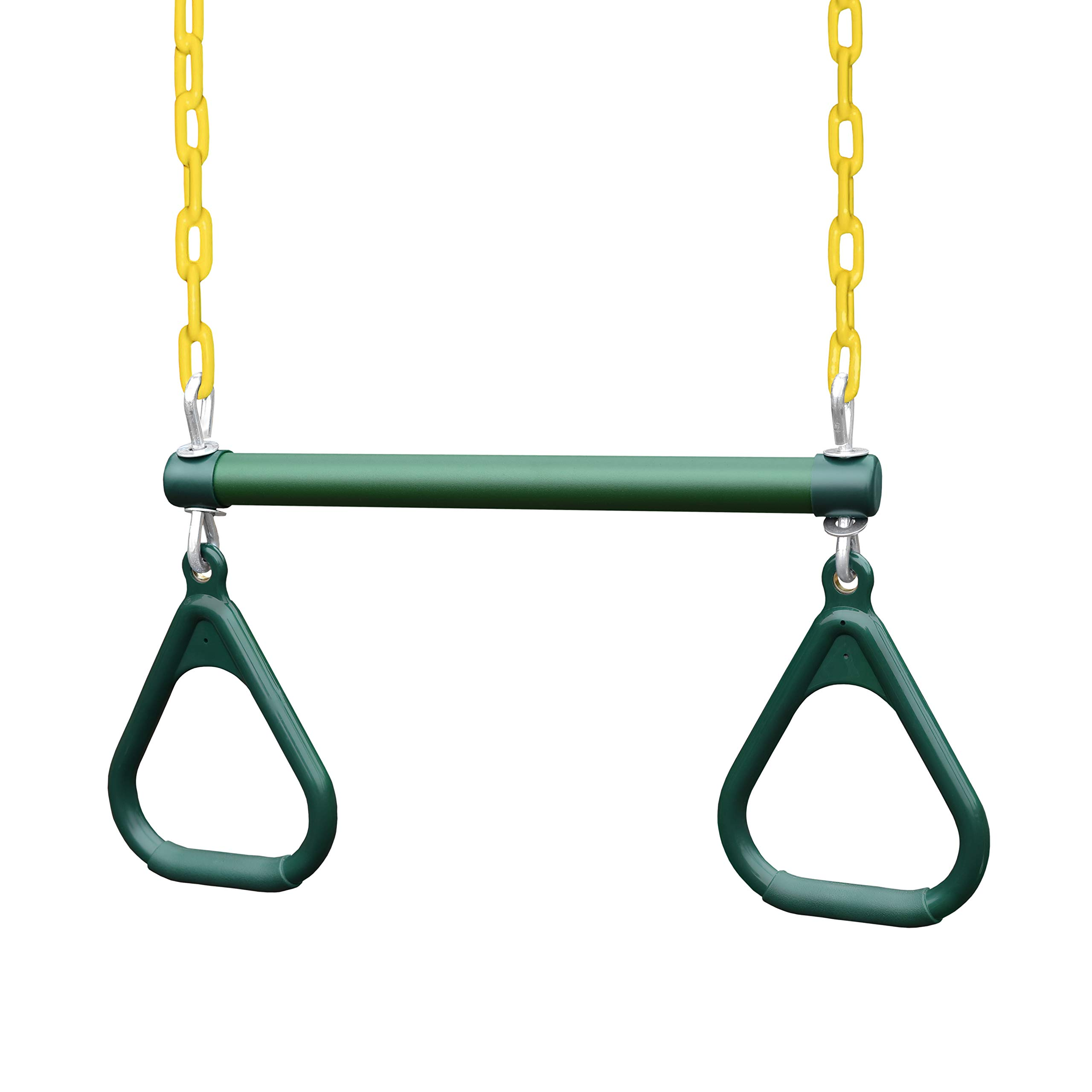 Gorilla Playsets 17'' Trapeze Bar w/Rings - Green w/Yellow Chains by Gorilla Playsets