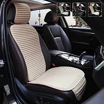 New Gray Universal Front Car Seat Cover Care Cushion Pad Protector Mat