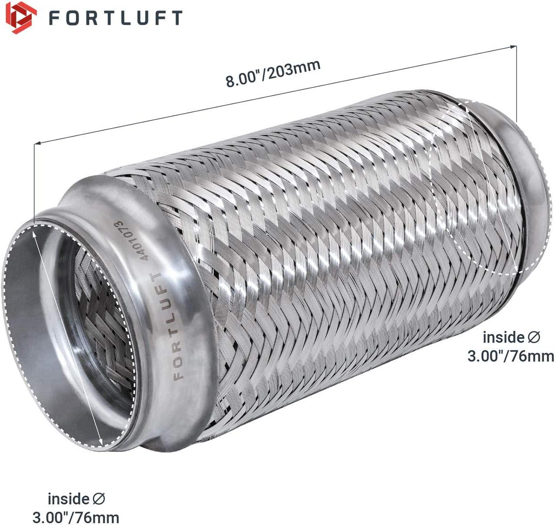 FORTLUFT Exhaust Flex Connector Standard Caps Stainless Steel 3.00x6.00//76x152mm