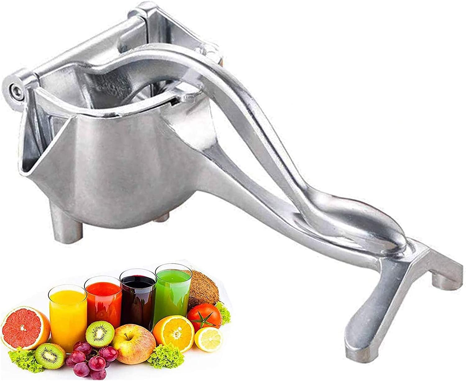 Stainless Steel Manual Fruit Juicer Heavy Duty Alloy Lemon Press Squeezer Premium Quality Lemon Orange Juicer, Lemon Orange Juicer Fruit Citrus Extractor Tool