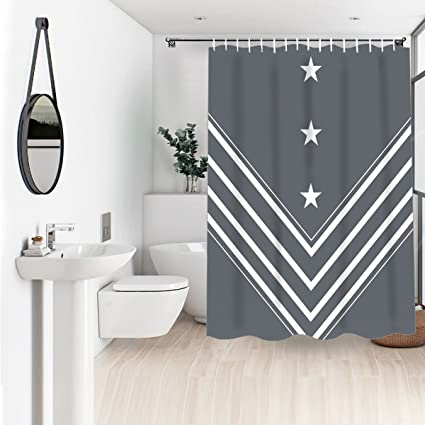Image Unavailable Not Available For Color Wasserrhythm Charcoal Gray Shower Curtain Navy