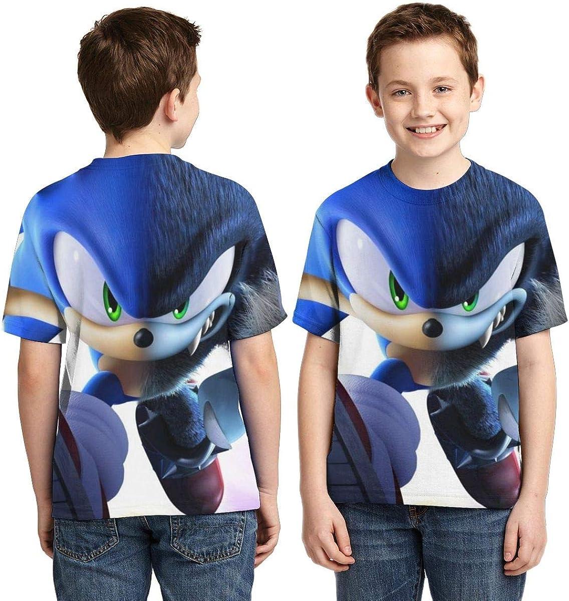 Muindancer Cartoon Characters Childs Shirt Boys 3D Print Short Sleeve Basic T-Shirt