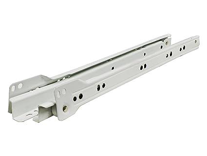 Silverline ES222-WT Euro Drawer Slides Bottom Mount 22 inch