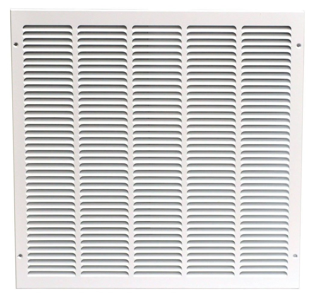 Speedi-Grille SG-2020 RAG 20-Inch by 20-Inch White Return Air Vent Grille with Fixed Blades